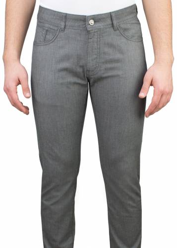 5 Pockets Grey Casual Trousers
