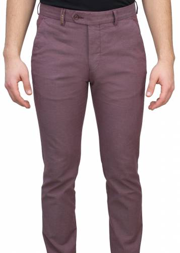 5 Pockets Pink Casual Trousers