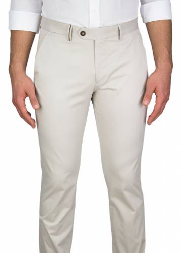 Beige Casual Trousers