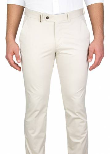 Cream Casual Trousers