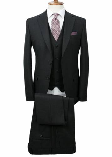 Antrasit Grey Vested Suit