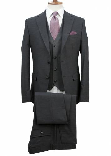 Antrasit Grey - Birdseye  Vested Suit