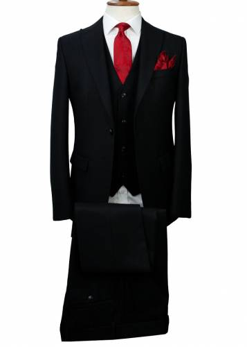 Black - Vested Suit